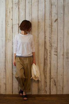 BUCOLIC& FROLIC: miusa〜CREW-NECK L/SL&S/SL T-SHIRT〜