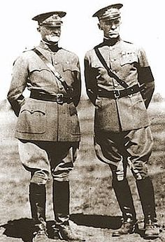 General Pershing and aide-de-camp, Colonel George C. Marshall.