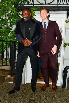 Tom and Idris Elba attend a get together at Anna Wintour's townhouse on May 1, 2016 in SoHo, New York City