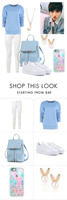 """On a walk with JungKook"" by zahra890 ❤ liked on Polyvore featuring Frame Denim, By Sun, adidas, Casetify, Aamaya by priyanka and Blue Nile"