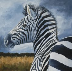 """Serengeti Stripes"" - 24""x24"" Acrylic Painting - © by Sandra Stevens"