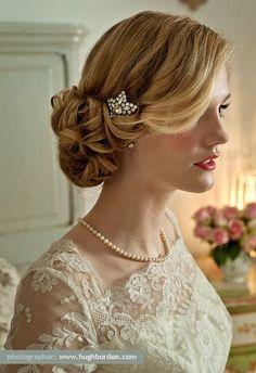 50 Beautiful Wedding Hair UPDO Styles | http://stylishwife.com/2014/03/beautiful-wedding-hair-updo-styles.html