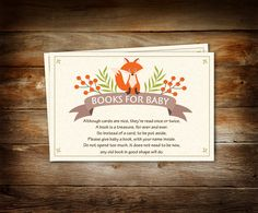 Woodland Baby Shower Book Theme Baby Shower Please Bring a
