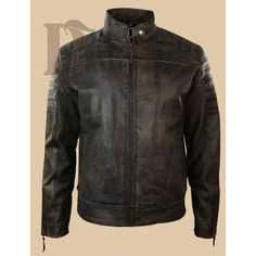 There are many jackets that might attract you but Men's Vintage Biker Distressed Leather can't be beaten. This jacket is a vintage styled . Distressed Leather Jacket, Vintage Leather Jacket, Biker Leather, Black Leather, Vintage Biker, Vintage Men, Mens Biker Style, Cafe Racer Leather Jacket, Leather Jackets For Sale