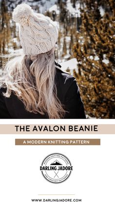 #knit a #cableknit #beanie #hat with this easy #knitting #pattern by #DarlingJadore for The Avalon Beanie! #avalonbeanie #cableknithat #cableknit #chunkybeanie #chunkyhat #knittingpatterns #knittingpattern #knittedhat #knittedbeanie #easyknitpattern #beginnerknitpattern #chunkyknithat #knitpattern #knitpatterns #knittingblog #knitwear #cableknitbeanie