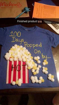 cool Fomos dada a misión por parte do profesor de JDaniel de elaborar unha t … - Zurück Zur Schule 100 Day Project Ideas, 100 Day Shirt Ideas, 100 Day Of School Project, School Projects, 100 Day School Shirt, Kindergarten Shirts, Kindergarten Projects, 100th Day Of School Crafts, School Fun