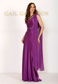 Conspicuous Purple One Strap Sash Beading Flower Length Chiffon Satin  Mother of Groom Dresses  ea45adf18d39