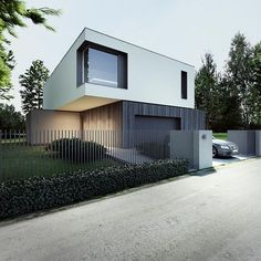 Best Ideas For Modern House Design : – Picture : – Description m-house by Tamizo architects group, Poland Architecture Design, Residential Architecture, Contemporary Architecture, Architecture Interiors, Contemporary Design, Modern Fence Design, Modern House Design, Tamizo Architects, Container House Design