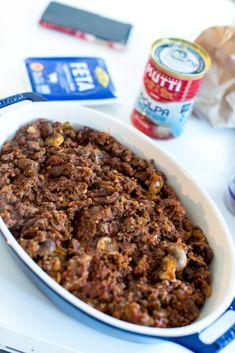 Köttfärsgratäng med mozzarella och färsk oregano - 56kilo.se⎜God Mat & LCHF Inspiration