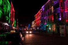 Piotrkowska Street in Lodz at night #lodz #night #atnight #piotrkowska #street #beautifull