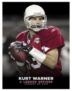 Kurt Warner: A Legend Retires January 2010 First Football, Football Is Life, Football Memes, Nfl Football, Football Players, Nfl Highlights, Arizona Cardinals Football, Football Conference, Sport Icon