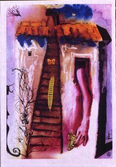 Trapped in Wonderland.    Salvador Dali', Alice in Wonderland, 1969.