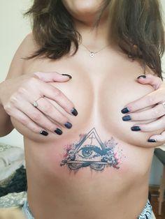 #erboobtattoo #eyetattoo #trianglewitheye