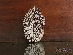 Wood Block Printing Hand Carved Indian Wood by BlackleafArt, $12.50