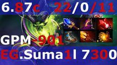 Dota 2 Pugna patch 6 87 EG.Suma1l 7300+ MMR Mid game KDA - 22/0/11 GPM-901
