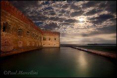 Ft. Jefferson by Moonlight by Paul Marcellini, via 500px