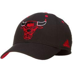 568cca034fe Chicago Bulls Black Line Design Angry Bull Flex Fit by Adidas  Chicago   Bulls