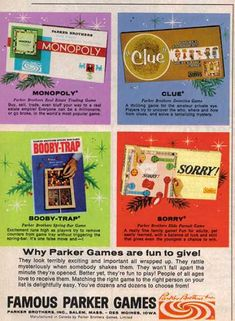 1967 Board games ad.....booby trap was a good way to smash your fingers, lol