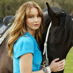 Jennifer Lawrence photoshoot with a horse. I want a picture like this with my horse!