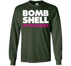 Bombshell in Progress Funny Workout T-shirt T-Shirt