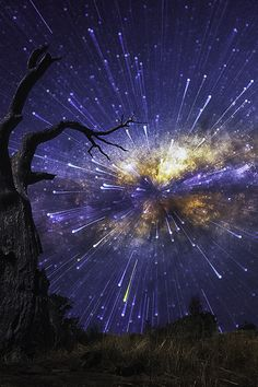 Inspiration for my novel - This atmospheric image encapsulates the meteorite phenomenon that features in the story.