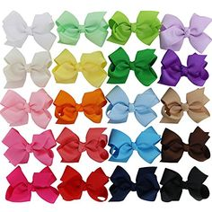 MyAmy 6 Inches hair bows grosgrain ribbon bow WITH alligator clip boutique bows for girls kids children teens toddlers Baby Girl Hair, Baby Hair Bows, Ribbon Hair Bows, Bow Hair Clips, 2 Baby, Baby Girls, Toddler Girls, Barrettes, Boutique Hair Bows