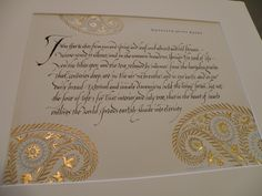 'Seed' by Kathleen Raine. Calligraphy, Georgia Angelopoulos