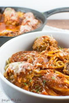 Skillet Spaghetti and Meatballs #SundaySupper
