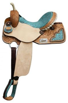 Double T Barrel Saddle With Filigree Print Seat | ChickSaddlery.com