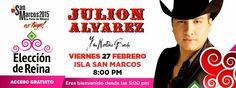 julión álvarez eleccion de reina feria san marcos 2015