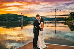 Sunsets on the Hudson at The Grandview, Grandview Events, Mid-Hudson Bridge, Epic Sunsets, Wedding Photography Custom by Nicole Photography Hudson River, Sunsets, Bridge, Wedding Photography, Events, Wedding Dresses, Bride Dresses, Bridal Gowns, Bridge Pattern