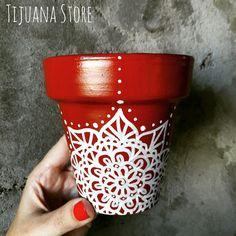 Mandalas macetas pintadas a   mano by  Tijuana store ❤