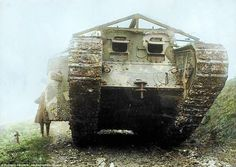 The first ever tanks, built to overcome the terrain that ordinary military vehicles could not pass, were unleashed onto the battlefield for the first time during the battle of Flers-Courcelette in Battle Of Ypres, Ww1 Tanks, Ww1 History, Patton Tank, Tank Design, World War One, Armored Vehicles, Military Vehicles, Weapons