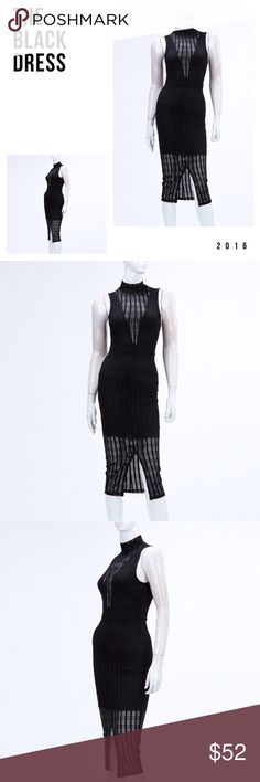 The Perfect Black Dress Unique lace cutout midi dress lined under portion with stunning unique lace over lay. The perfect sexy black dress features a back slit and zip up back detail. Dresses Midi
