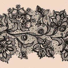 用元素鮮花抽象花邊絲帶無縫模式。卡範本框架設計。蕾絲花邊。可用於包裝、 邀請和範本。 付費矢量圖 - Clipart.me
