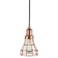 Lámpara de techo cobre Tap Cage E27 60W H101cm 6836CU