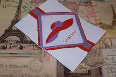 Red Hat Ladies Thank You greeting card by AnLieDesigns on Etsy, $2.00