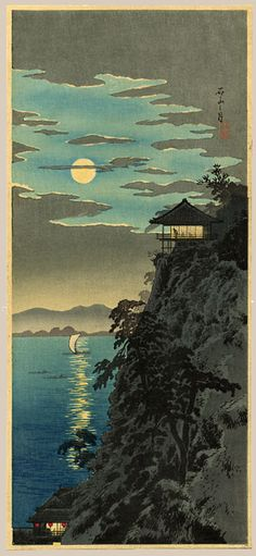 "Shotei, Takahashi 1871 - 1945, ""Autumn Moon Over Ishiyama"""