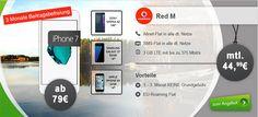 Vodafone RED M (3GB LTE) für 44,99€ mit TOP Handy ab 1€ http://www.simdealz.de/vodafone/red-m-mit-top-smartphone/