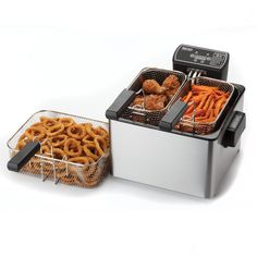 Regular Price: $79.99  http://www.clickheretopurchase.com/B005Z492PU - Aroma ADF-232 Smart Fry XL 4-Quart Digital Dual-Basket Deep Fryer. Skip the restaurant and make your favorite fried dishes at home with the sleek stainless steel Aroma SmartFry XL. With three included fry baskets you can cook up one large batch of a single dish or cook two separate dishes side by side.