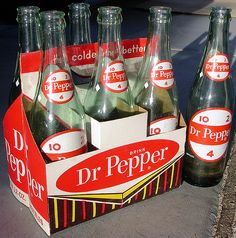 Dr. Pepper Bottles and Carrier, 1964