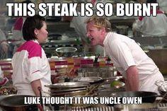 This steak is so burnt...