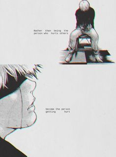 Tokyo Ghoul- Ken Kaneki - it's better to be nice than mean. Description from pinterest.com. I searched for this on bing.com/images