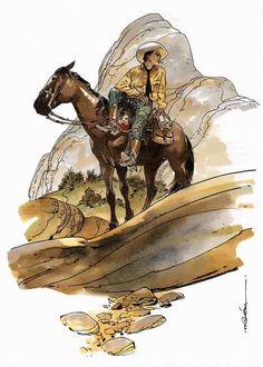 Tex Willer e Dinamite na extraordinária arte de R. M. Guéra