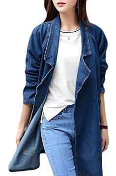 Plus Size Coats L-4XL Hooded Denim Jackets Casual Loose Coats Long Sleeve Spring Autumn Demine Outwears Femmes Tops