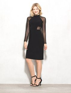 It's time to wow in this super-chic little black dress. Perfect for a girls' night out, get ready to turn heads! Imported.