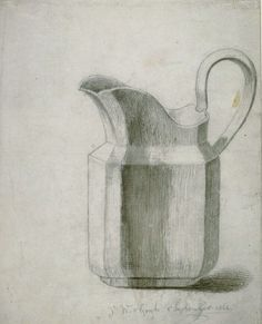 Vincent van Gogh: Milk Jug. September, 1862. Info from The Kroller-Muller museum. The artist's signature is early -- after some time he signed using only 'Vincent' because people mispronounced his last name. Van Gogh received the milk jug from his brother Theo and he used  it in a number of works.