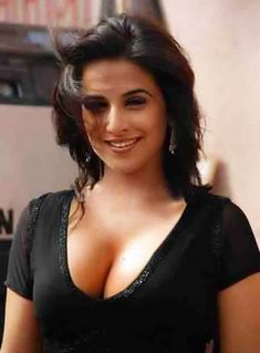 Stunning Vidya Balan in Black dress