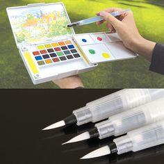 詰め替え1ピース水ブラシインクペン用水カラー書道絵画イラストペンオフィス文具