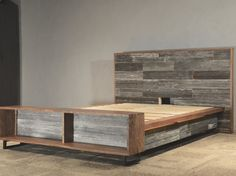 The Platform Bed // Black Walnut // Reclaimed by ThisIsUrbanMade